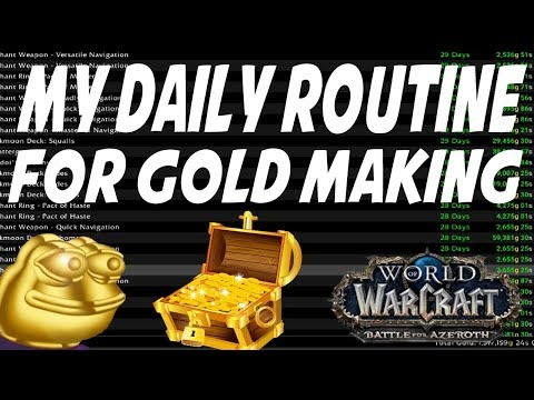 MY DAILY GOLD MAKING ROUTINE! 4.3 Million Gold Mailbox in World of Warcraft