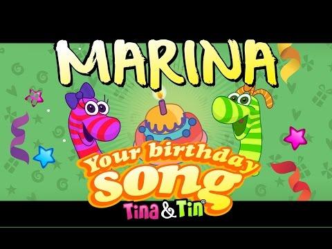 Tina&Tin Happy Birthday MARINA (Personalized Songs) (Personalized Songs For Kids) #PersonalizedSongs