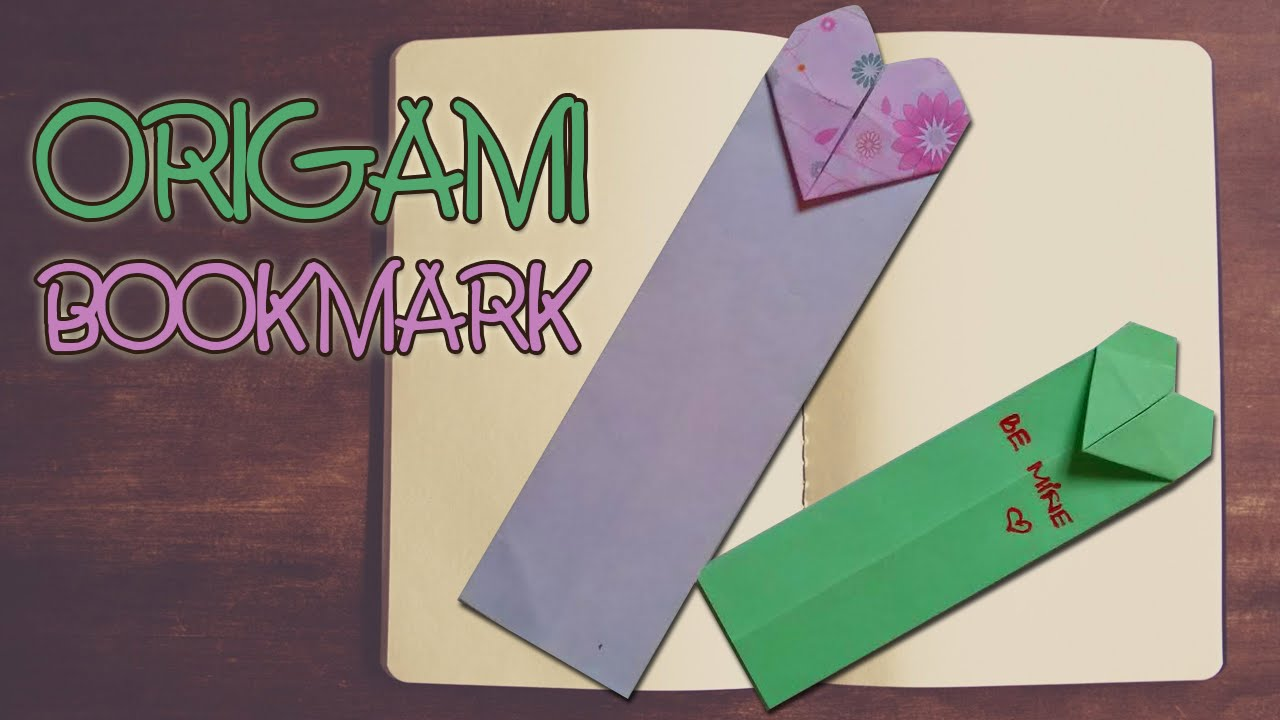 Origami easy origami bookmark instructions youtube How to make a simple bookmark