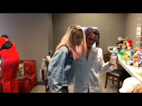 Lil PUMP GETS SHY WHEN MEETING TANA MONGEAU (lil PUMP DATING TANA MONGEAU) GUCCI GANG