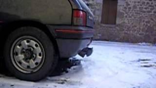 Pompe a injection HS sur 205 Dturbo moteur qui broute, claque et fume.AVI