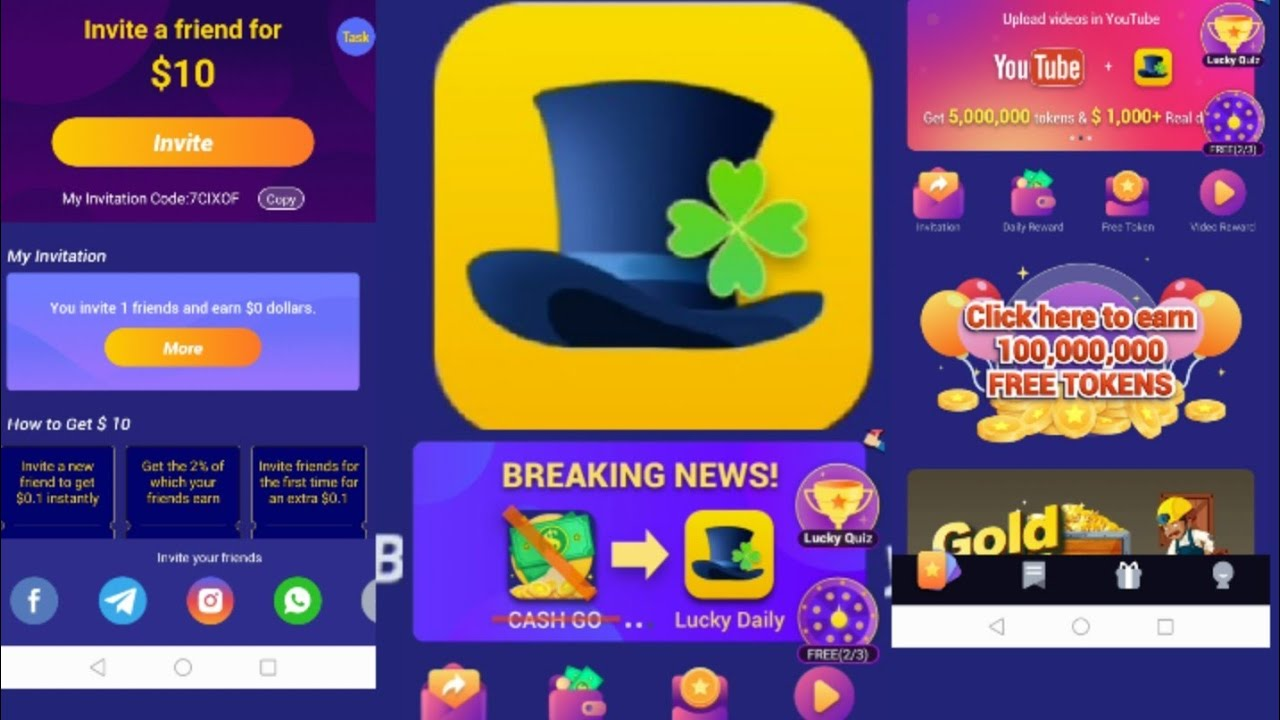cash go update to lucky daily.