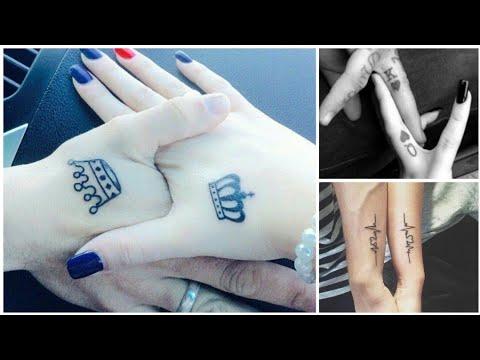 7b11eaff79c51 30+ couple tattoo ideas||boyfriend/girlfriend tattoos collection||hubby/  wifey tattoos images