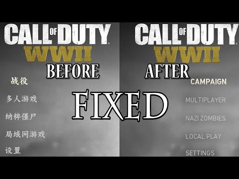 How to change Call Of Duty WW2   Chinese - Russian   Language To   English   - [[FIXED]]