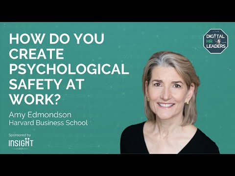 HOW DO YOU CREATE PSYCHOLOGICAL SAFETY AT WORK? Interview with Amy Edmondson from YouTube · Duration:  3 minutes 25 seconds