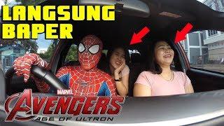SPIDERMAN GRAB PRANK - CEWEKNYA LANGSNG BAPER KETEMU DRIVER  SPIDERMAN