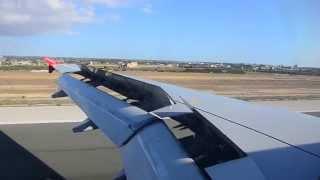 Air Berlin Airbus A320 Landing at Palma de Mallorca Airport