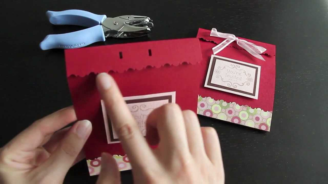 My DIY Wedding Invitation - YouTube