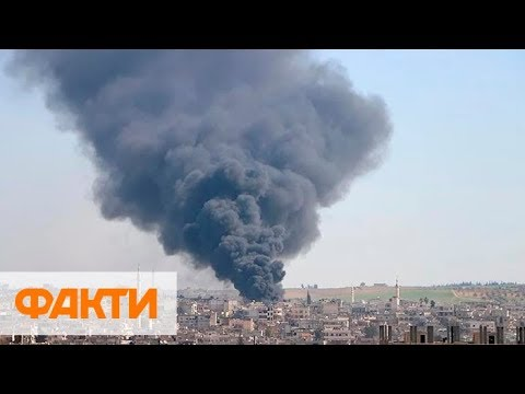 Масштабная бомбардировка Сирии.