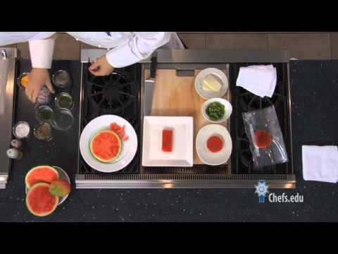 How to Make Watermelon Salad with Mango, Red Onion, Goat Cheese and Tangy Vinaigrette