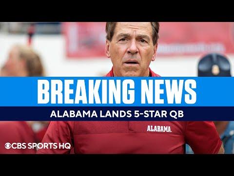 BREAKING: Alabama lands 5-star QB Ty Simpson for 2022 class [BRETT FAVRE COMP]   CBS Sports HQ