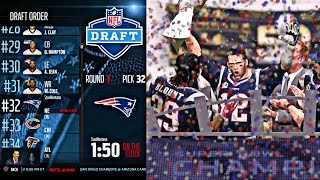 Madden 16 Career Mode - Getting Drafted In The 1st Round ! | Patriots Super Bowl Champions AGAIN !