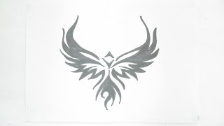 Ep. 123 - How to draw eagle tribal tattoo design