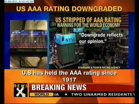 US AAA credit rating downgraded