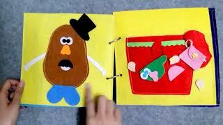 QUIET BOOK HANDMADE / QUIET BOOK AT SCHOOL / GHES HANDMADE / SÁCH VẢI DẠY KỸ NĂNG