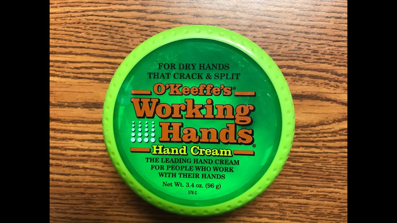 o keeffe s working hands hand creme review youtube