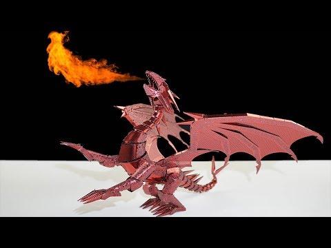 DIY 3D METAL Piececool Dragon Flame Model Speed Build