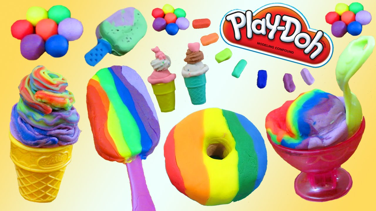 Cake Ice Cream Play Doh : Play Doh Desserts, Ice Cream, Cakes, Donuts, Bakery How To ...