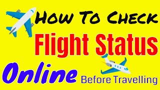 How To Check a Flight Status Online by Triksbuddy