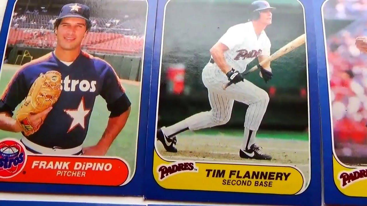1986 Fleer Baseball Cards Video Part 2