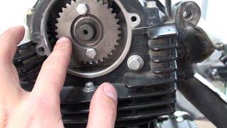 TSR 250 Замена Цепи ГРМ, чистка центробежного фильтра, Часть 2