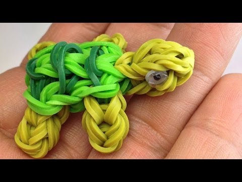 Making A Turtle Charm In The Rainbow Loom Youtube