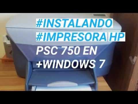 Como instalar impresora HP PSC 750 en Windows 7