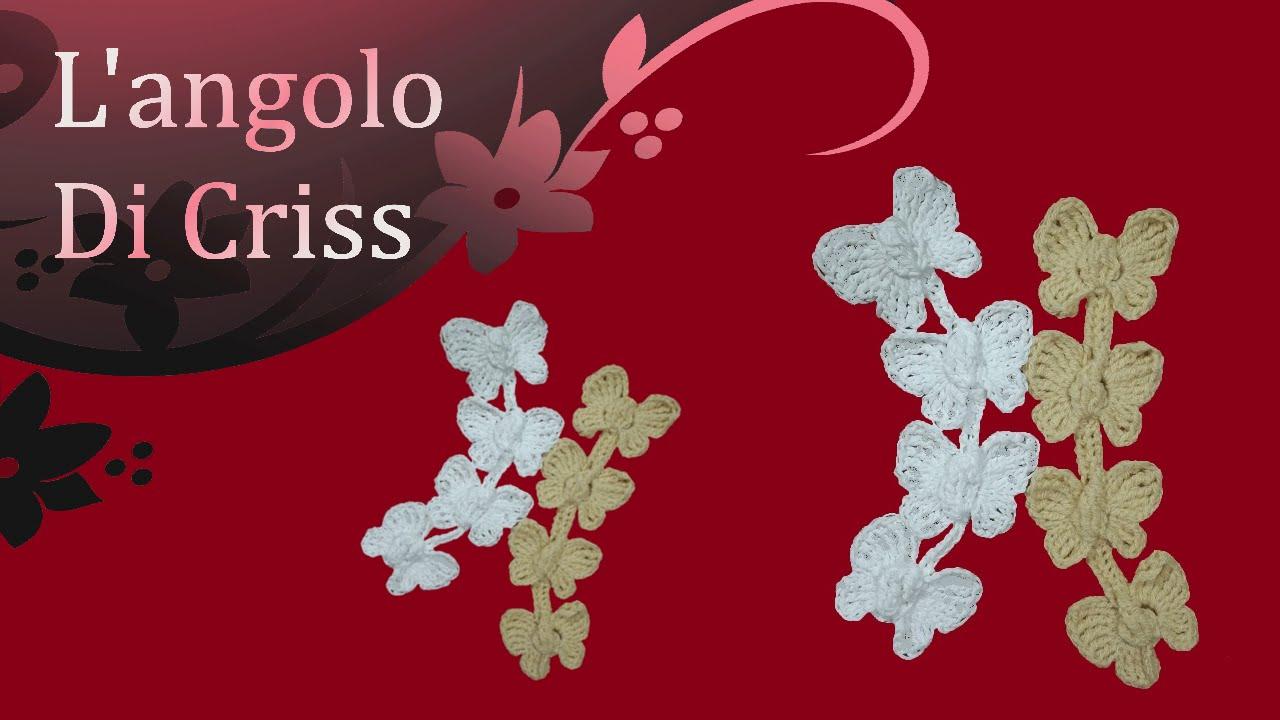 Farfalle Alluncinetto Incatenate Mariposas En Crochet Crochet