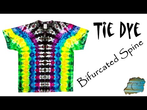 How to Tie Dye a Bifurcated Spine Pattern