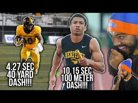 The FASTEST High School Football Player!!!- Anthony Schwartz Highlights [Reaction]