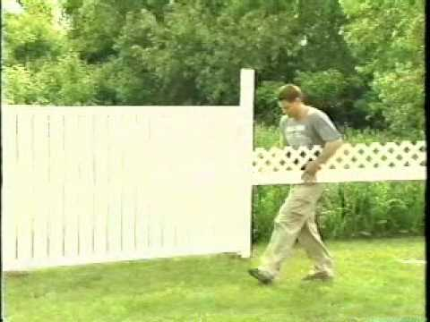 how to install a pvc vinyl fence plastival fence products. Black Bedroom Furniture Sets. Home Design Ideas