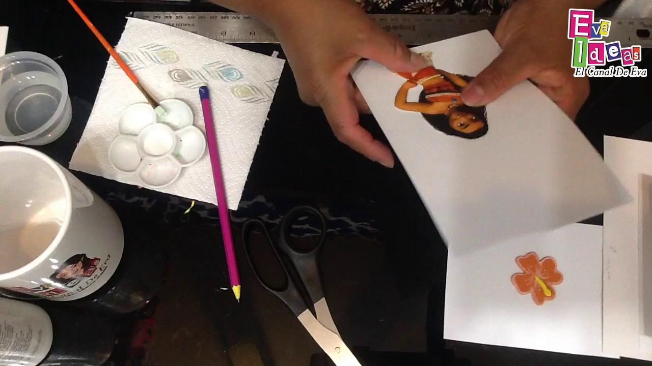 Como Hacer Una Tarjeta De Invitacion De Moana How To Make A Invitation Card Of Moana