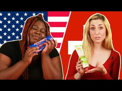 American & Swiss People Swap Snacks