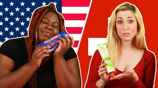 American & Swiss People Swap Snacks