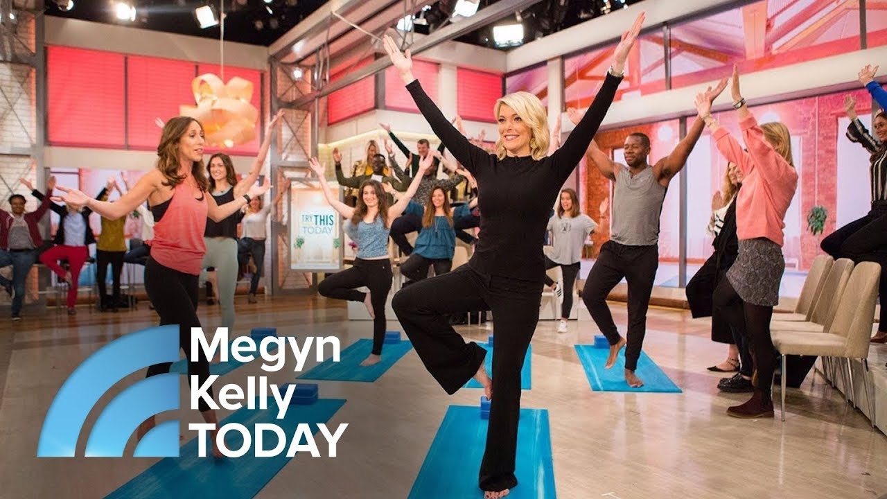 Megyn Kelly Learns Yoga And So Can You Megyn Kelly Today