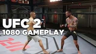 EA Sports UFC 2 - CM Punk, B.J. Penn, and Royce Gracie Sparring Gameplay