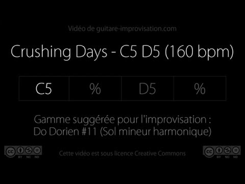 Crushing Days - C5 D5 (160 bpm) : Backing track