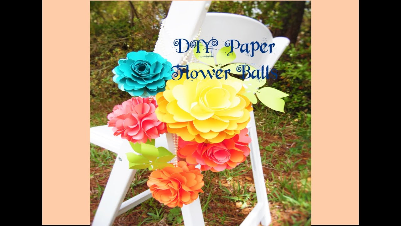 Diy paper rose flower pomander kissing balls youtube mightylinksfo Choice Image