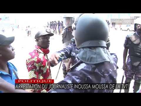 Arrestation du journaliste Inoussa Moussa de la TVT à la marche du PNP
