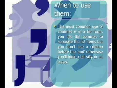 The Cooper School's Easy Guide to Using Commas