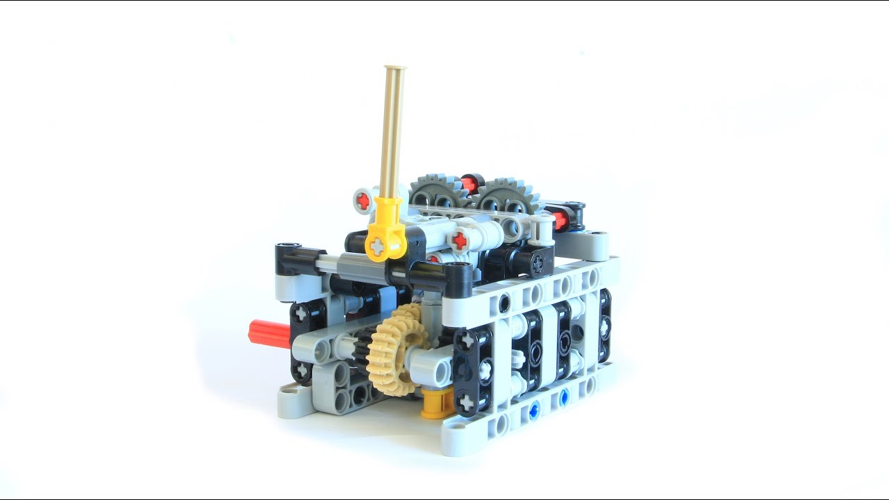 Lego Technic Sequential Gear Box With Building Instructions Youtube