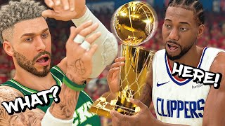 KAWHI HANDED US THE TROPHY AFTER GOING 16-0 IN NBA PLAYOFFS! FINALS SWEEP! - NBA 2K20 MyCAREER #44