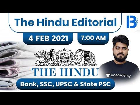 7:00 AM - The Hindu Editorial Analysis by Vishal Parihar | The Hindu Analysis | 4 February 2021