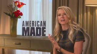 Sarah Wright Meet Tom Cruise wife in American Made full interview