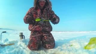 Тест эхолота Lucky ffw718 зимой в 25 градусный мороз