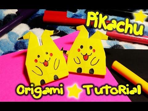 DIY : How To Make pikachu*pokemon from origami paper | Origami tutorial | OKAY DIY