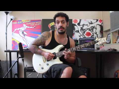 How to play 'Beast And The Harlot'  Avenged Sevenfold Guitar Solo Lesson wtabs