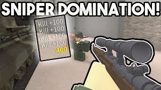 SNIPER DOMINATION! | ROBLOX: WWII