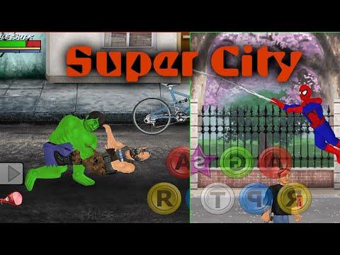 SpiderMan Web Trick In Super City