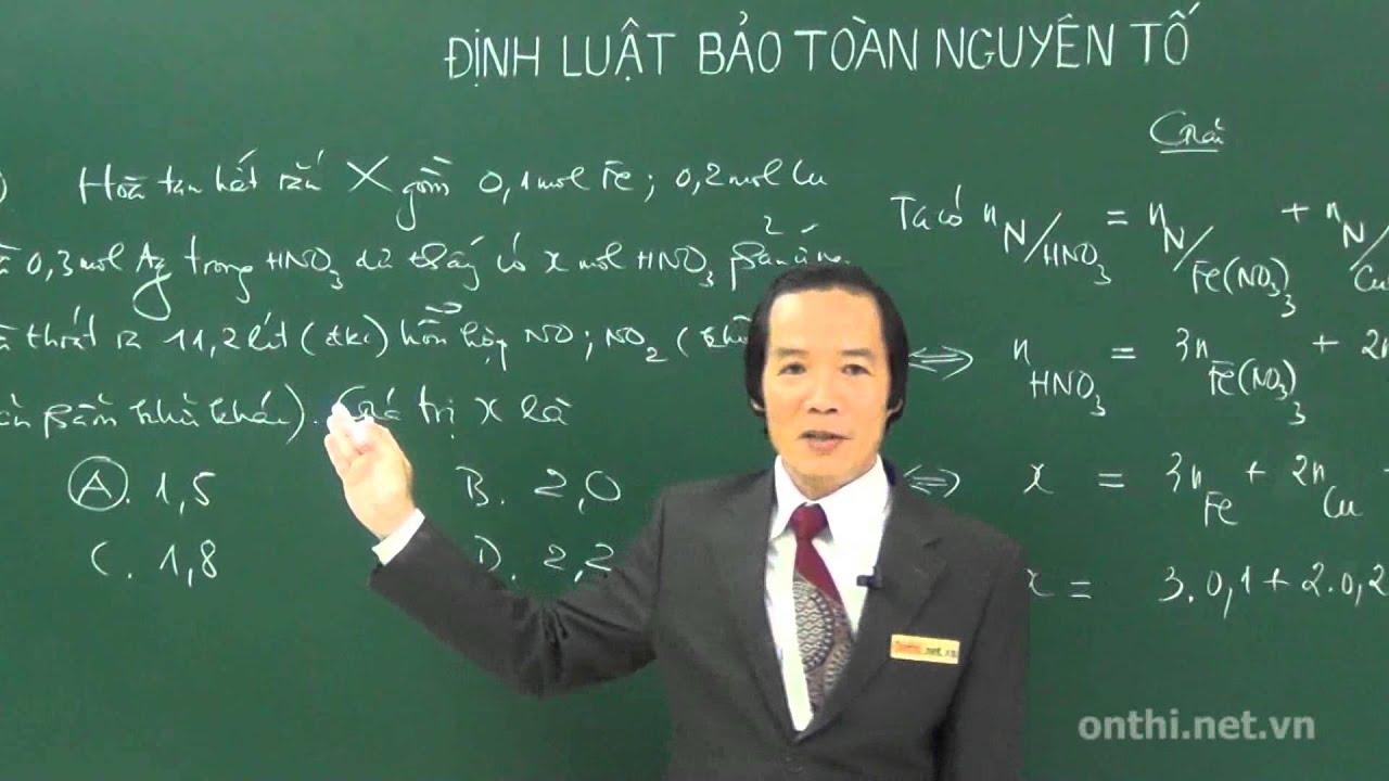 13 Bài 12  Định luật bảo toàn nguyên tố P2